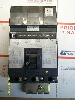 Square D 100A 100 Amp 3 Pole Thermal Magnetic Circuit Breaker 600Vac , Fa36100