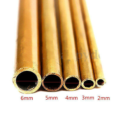 Inner Diameter 2-12mm Brass Round Tubes 500mm Long 1mm Wall Project Pipe Tube