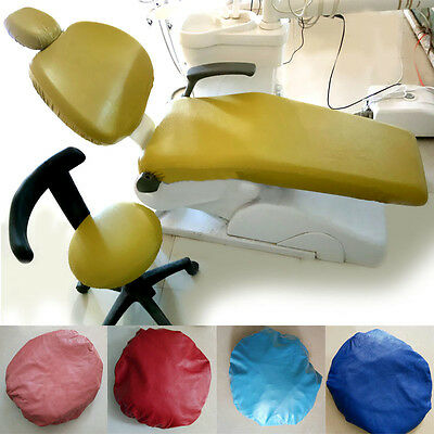New Five Colors Protector Bring Elastic Dental PU Leather Chair Seat Cover C37LJ