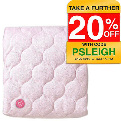 Goldbug Sheet Protector for Baby Cot/Bed/Nursery 74x47cm Machine Washable Pink