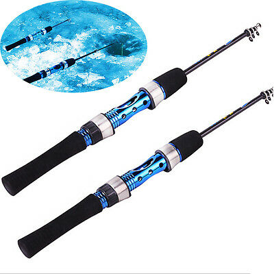NEW Pro Fashion Portable Carbon Ice Fishing Rods Pole Cold Snow Fish Rods Light