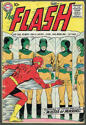 THE FLASH 105  GD+/2.5  -  Tough first Silver Age issue from 1959!