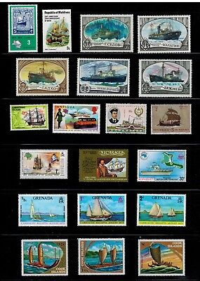 Transport 20 x MNH Collection Ship, Yacht, Icebreaker,... WW qq A
