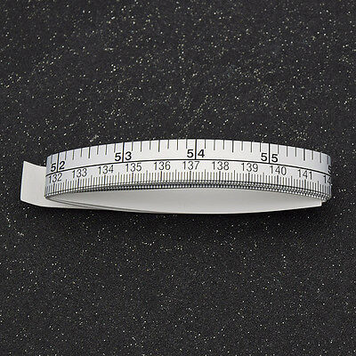 1.5M Silver Table Sticky Measuring Adhesive Tape Ruler Read in Inch and CM