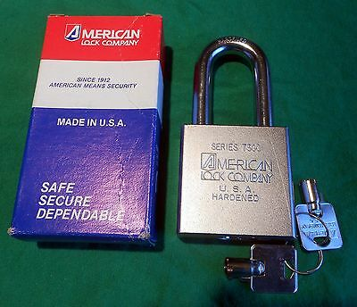 "NEW American Lock A7301 ReKeyable TUBULAR Key PADLOCK Series 7301 7/16"" Shackle"