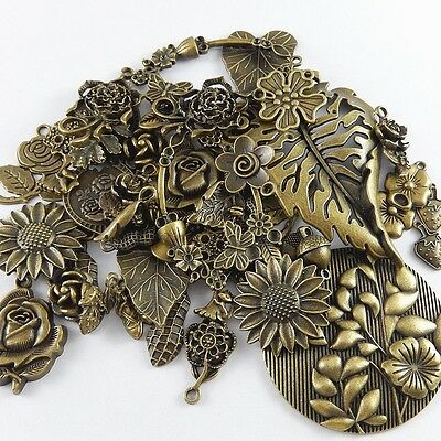 20-30pcs Vintage Bronze Assorted Mixed Alloy Pendants Charms Crafts Jewelry