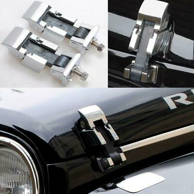 2x Stainless Steel Hood Lock Catches Latches Kit For Jeep Wrangler JK 2007-2016