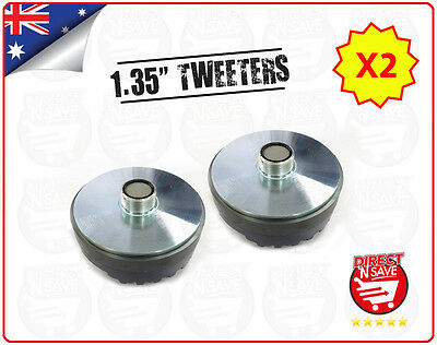 "2x Titanium Compression 1.35"" Screw-On Horn Driver Tweeter 8.5cm Diameter Gold"