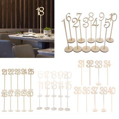 Rustic Wooden Table Numbers 1 to 40 French Font Wedding Party Table Centerpieces