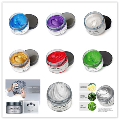 Professional Hair Modeling Pomade Wax Natural Hair Styling Washable 5 Color USA
