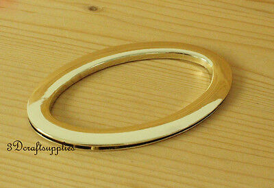 a pair 3 1/2 inch (Inner diameter) Light gold Oval metal purse handle P80