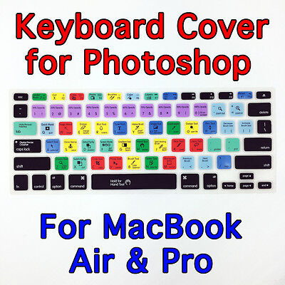 """Soft Photoshop Keyboard Cover Protector for Apple Mac MacBook Air Pro 13.3"""" 15"""""""
