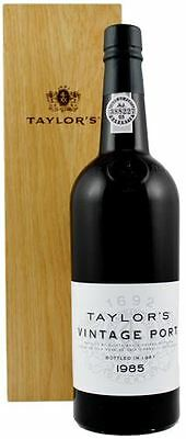 Taylors Vintage 1985 Port 75cl in Wooden Gift Box