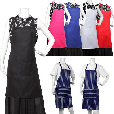 Stripes Apron Catering Kitchen Cooking BBQ Craft Baking Restaurant 100% Cotton