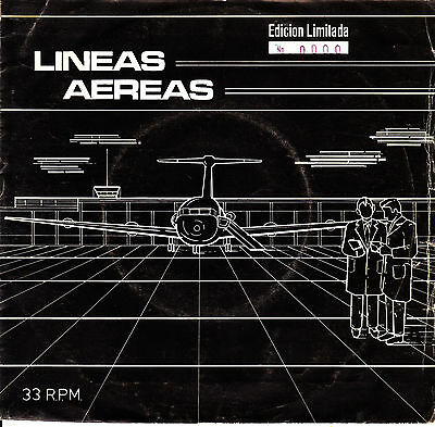 "7"" EP promo LINEAS AEREAS landschaften 45 SPAIN SYNTH MOVIDA LTD NUMERADO 0000"