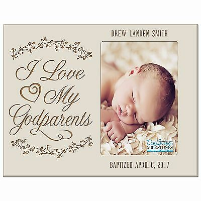 New Christening Baptism Gift Baby Announcement Photo Frame Holds 4x6 Picture
