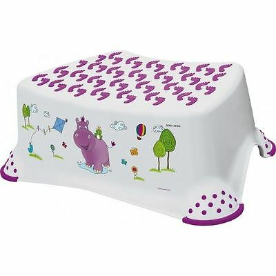 Happy Friends Hippo Toddler Step Stool WHITE
