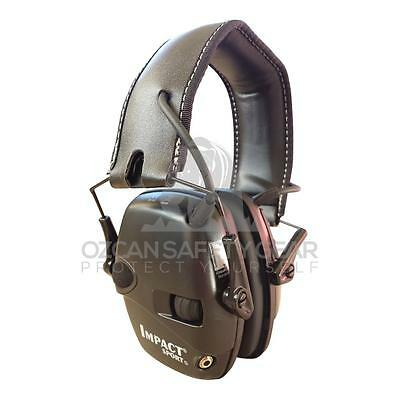 Howard Leight Impact Sport Electronic EARMUFF Black w/Hygiene KIT Outdoor Hunt