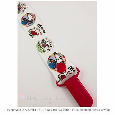 Maisy Hand Made Dummy Clip - Pacifier Clips - Soother Chain (DC100220)
