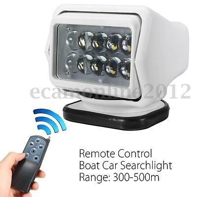 LED Remote Control Marine Boat Car Searchlight Wireless Spotlight Magnetic Base