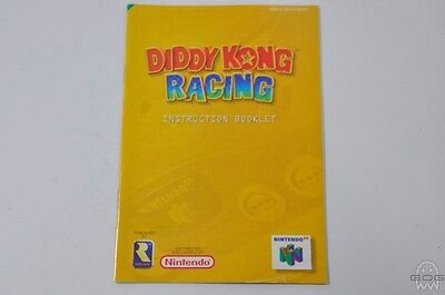 OFFICIAL REPLACEMENT MANUAL - DIDDY KONG RACING - N64 - Nintendo.