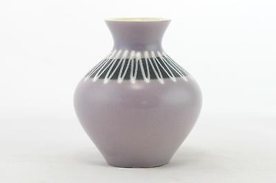 A Hornsea Pottery slipware vase. Purple & white John Clappison English 1960's