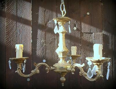 stunning french bronze vintage chandelier light