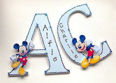 Mickey Mouse Personalised Wall Letter Name Plaque