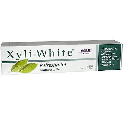 XyliWhite Toothpaste Gel, Fluoride Free, Refreshmint, 6.4 oz (181 g) - Now Foods