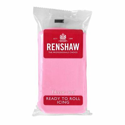 Renshaw Ready To Roll Zuckerguss Fondant Kuchendekoration 1kg Rosa
