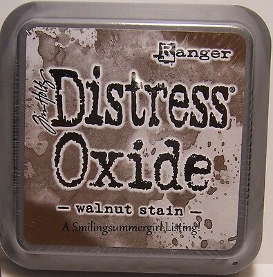 Walnut Stain Distress Oxide Ink Pad Tim Holtz Ranger New Pigment Dye Fusion Ink