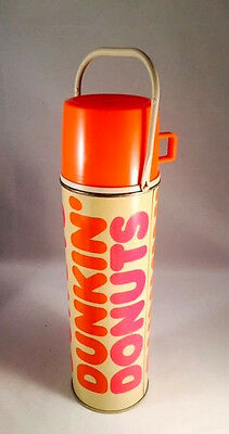 """Vintage Dunkin' Donuts Thermos 13"""" Large Plastic Cup Hot Cold Coffee King Seeley"""