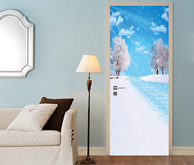 3D Snow Scenery 24 Door Wall Mural Photo Wall Sticker Decal Wall AJ WALLPAPER AU