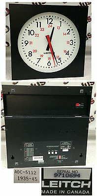 "Leitch ADC-5112 12"" Wall-Mount Clock"
