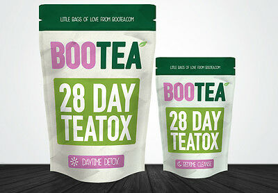 Bootea 28 Day Teatox Daytime Detox & Bedtime Cleanse Skinny Slim Tea - One Month