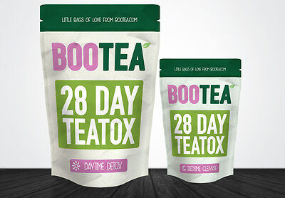 NEW ~ Bootea 28 Day Teatox Daytime Detox & Bedtime Cleanse Skinny Slim Tea