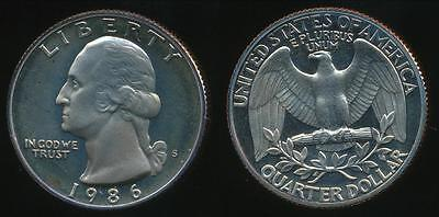 United States, 1986-S Quarter, 1/4 Dollar, Washington - Proof
