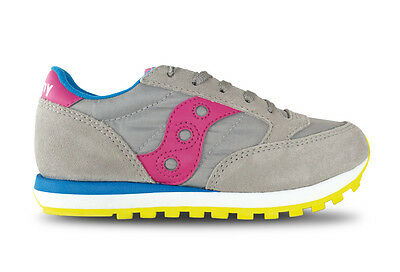 SAUCONY Girls Jazz Original Bimba kids scarpa SY56446 Grey Pink Blue