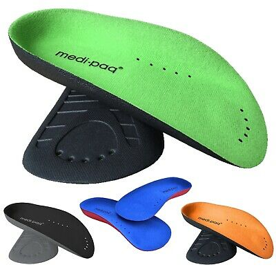 Medipaq® ¾ Arch Aid Foot Support - Plantar Fasciitis Arches Pain Orthotic Insole