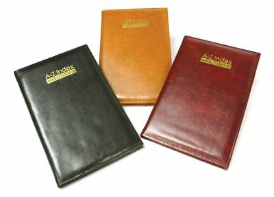 Black Executive Address Book Soft Padded Leather Finish Diaries Office