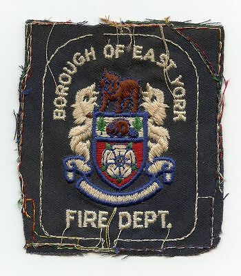 East York Fire Department, Ontario, Canada RARE Vintage Shoulder Patch Proof