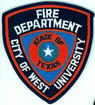 WUFD West University Place Fire Department Uniform Patch Texas TX