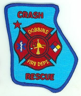 DFD Dobbins Fire Department Crash Rescue Uniform Patch Georgia GA