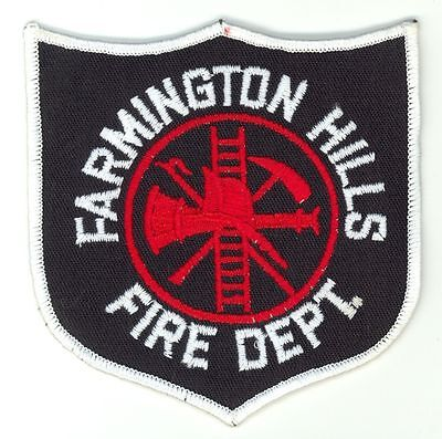 FHFD Farmington Hills Fire Department Uniform Patch Michigan MI