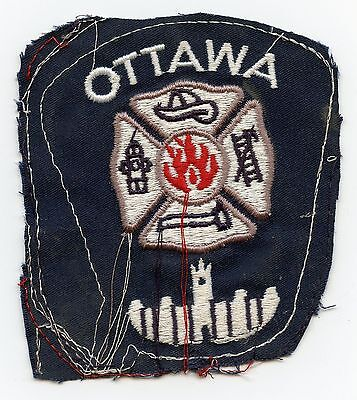 Ottawa Fire Department, Ontario, Canada RARE Vintage Shoulder Patch Proof #2