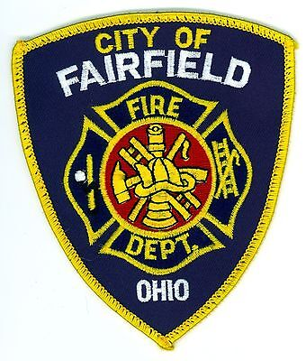 FFD City of Fairfield Fire Department Uniform Patch Ohio OH