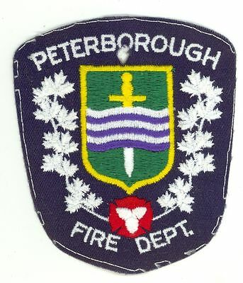 Peterborough Fire Department Ontario, Canada HTF Vintage Shoulder Patch #1 White
