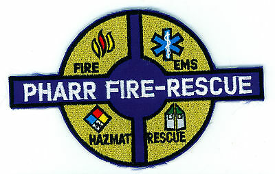 Pharr Fire-Rescue Fire Department Uniform Patch Texas TX