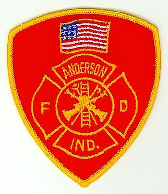 AFD Anderson Fire Department Uniform Patch Indiana IN - Red