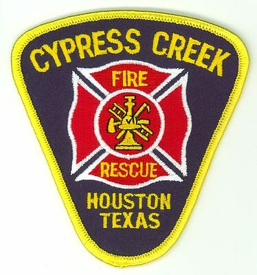 CCFD Cypress Creek Fire Rescue Department Uniform Patch Houston Texas TX